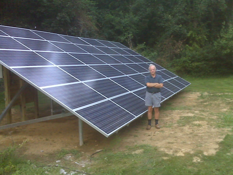 ... Impact Man: My Dad made me post this picture of his new solar panels
